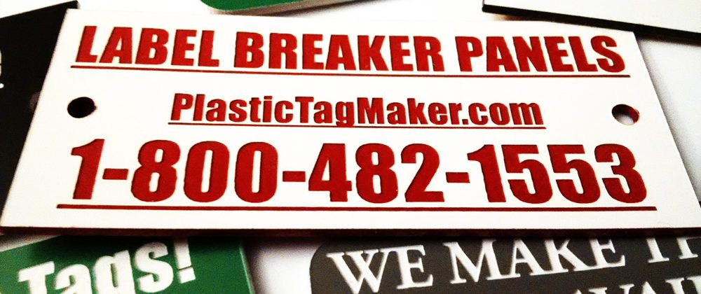 custom plastic tags in bulk quantity