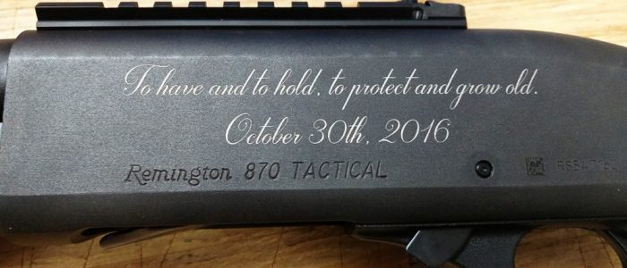 custom engraved remington shotgun rifle wedding gun laser engraving pros Shotguns Engraving rifles