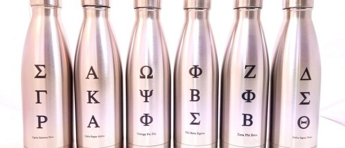 custom engraved stainless steel bottles fraternity sorority laser engraving pros drinkware