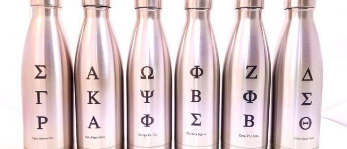 custom engraved stainless steel bottles fraternity sorority laser engraving pros drinkware