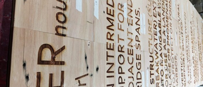 laser engraved text custom wood sign laser engraving pros