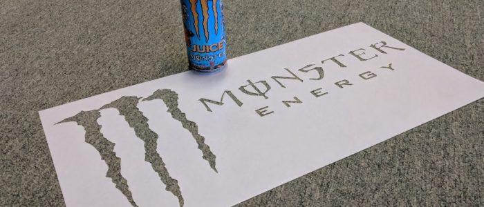 custom engraved monster energy sign laser engraving pros Plastic Engraving